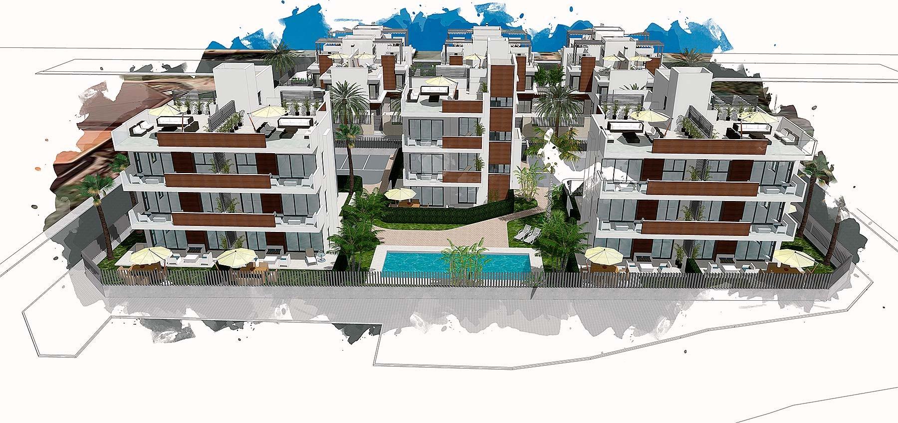 Апартаменты в Ла-Манга-дель-Мар-Менор, 3+1